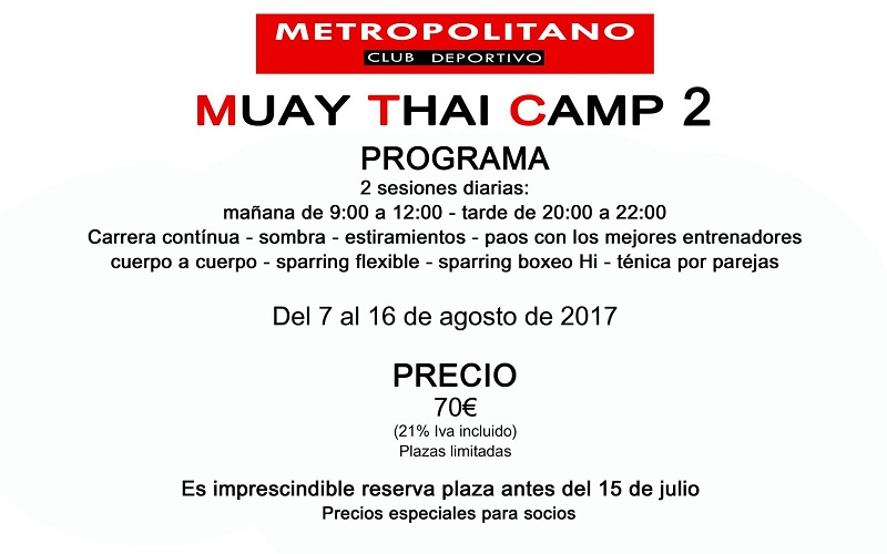Muay Thai Camp 2017