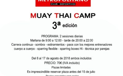 Cuota Muay Thai Camp 2018