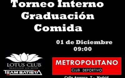 Graduación y torneo interno Brazilian Jiu Jitsu