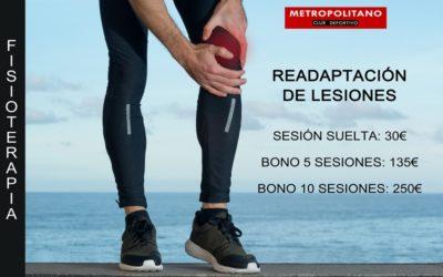 Servicio de Readaptación de Lesiones Fisioterapia